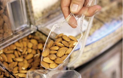 scoop bin nuts