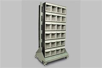 Storage Cart with Tip Out Bins