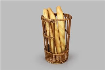 Single Wicker Baguette Merchandiser