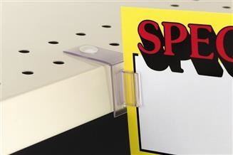 304 SuperGrip® Flag Sign Holder for Perforated Shelves