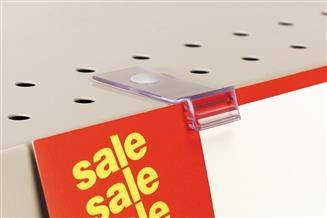 119 SuperGrip® Flush Sign Holder for Perforated Shelves