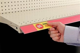 Clip-On Flip-Up Data Strip® Label Holder for Shelf Channel