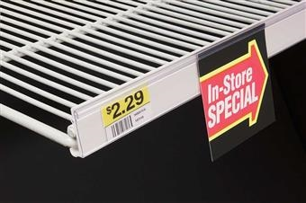Data Strip® SuperGrip® Label Holder for Wire Shelf