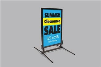 Windmaster® Sign Frame with Fixed Base