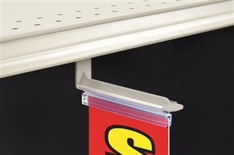 Magnetic Under-Shelf Mount Sign Holder, L-Style