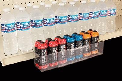 Clear Adjustable Shelf Extenders