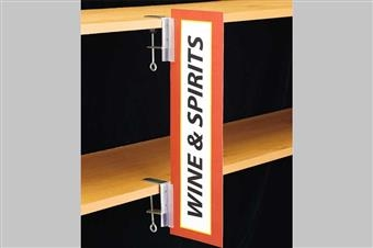 SuperGrip® Aisle Sign Holder with C-Clamp