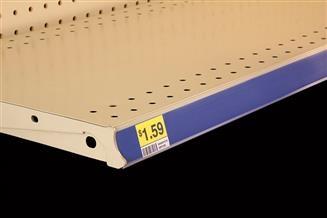Clip-On Data Strip® Label Holder for Shelf Channel, Flush Fit