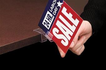 SuperGrip® Square Shelf Flag Sign Holder