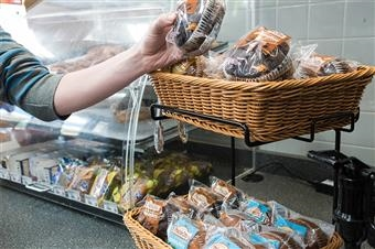 Wicker Basket Counter Displays