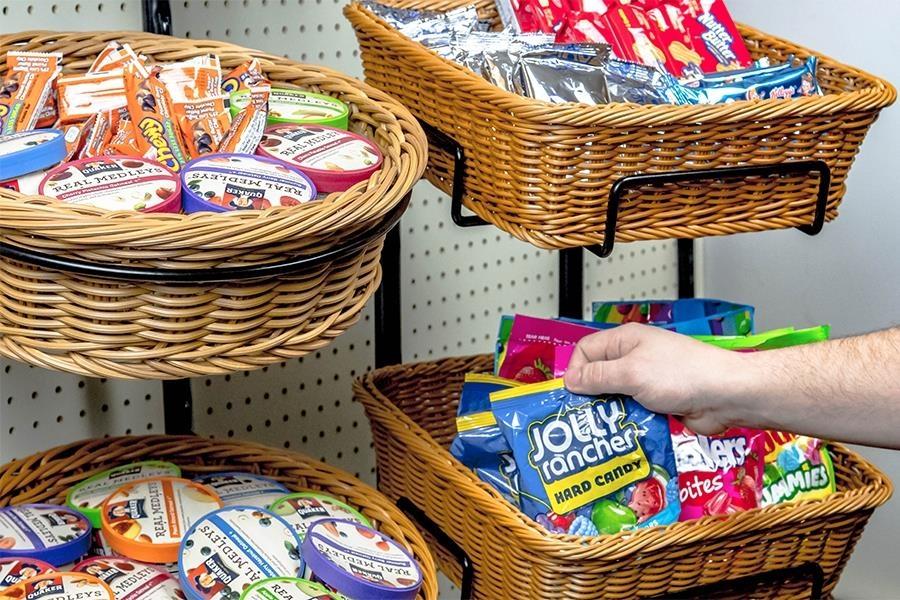 Wicker Basket Displays - Stands
