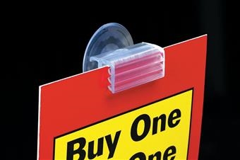 121 SuperGrip® Suction Cup Flush Sign Holder
