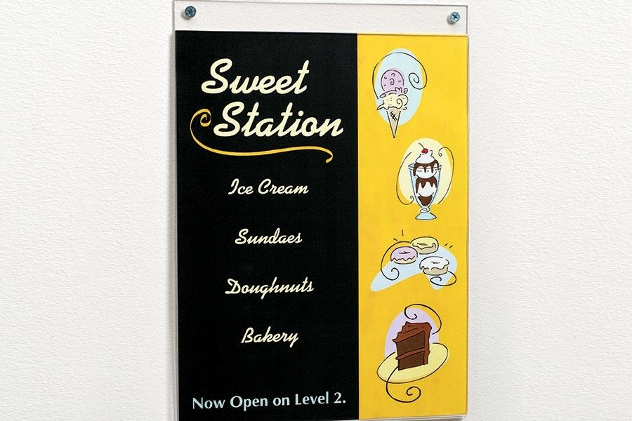Acrylic Wall-Mount Sign Holder