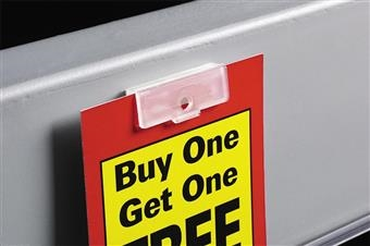 Fold-N-Hold® Flush Sign Holder with Adhesive
