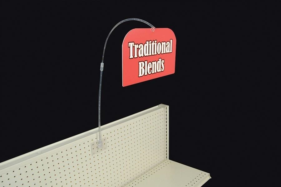 clear wobbler sign holder