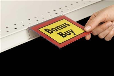 FDS Flip-Up Sign Holder for Shelf Channel