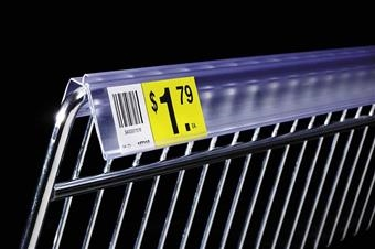 DSXWB Extra-Duty Data Strip™ Label Holder for Wire Basket