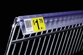 DSXWB Extra-Duty Data Strip™ Label Holder for Wire Basket