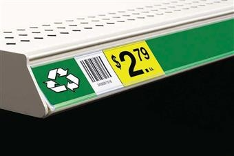 Clip-On Data Strip® Label Holder for Shelf Channel
