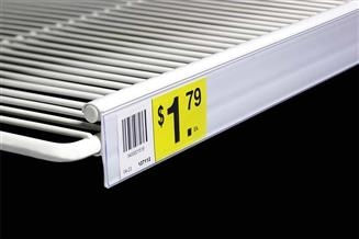 Data Strip® Label Holder for Double Wire Shelf