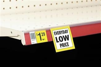 Backless Clip-On Data Strip® SuperGrip® Label Holder for Shelf Channel