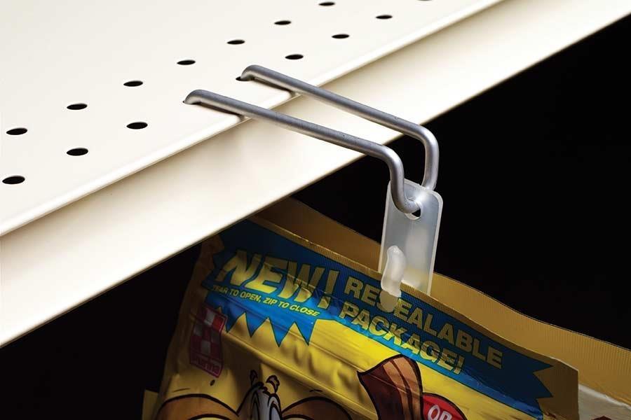 Shelf-Top Hook for Flag Merchandising