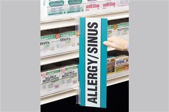 Shelf-Top SuperGrip® Sign Holder, Metal