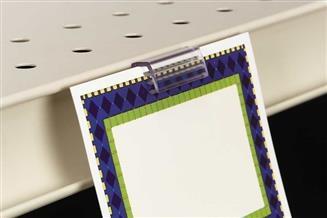 SuperGrip® Shelf Channel Sign Holder