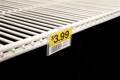 Fold-N-Hold® Label Holder for Double Wire Shelf