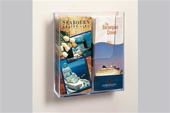 Excelsior® Wall-Mount Literature Holder with Divider