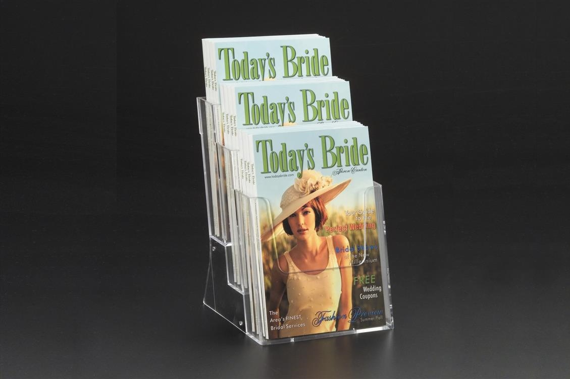 Triple-Tiered Literature Holders