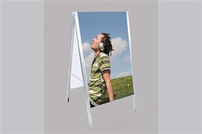 Portable A-Frame Sign Holder