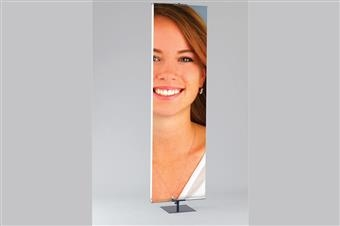 Premier™ H1 Hemmed Graphic Banner Stand, Heavy-Duty