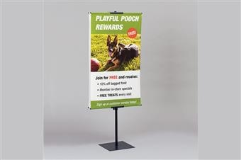 Premier™ H2 Hemmed Graphic Banner Stand