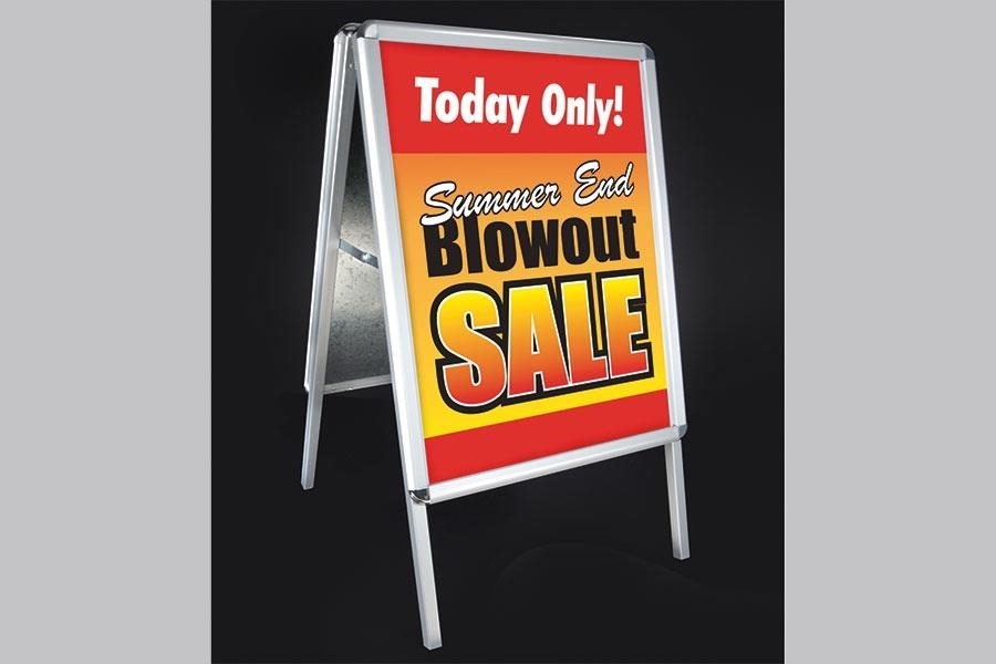 Indoor/Outdoor A-Frame Sign Holder