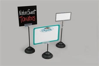 Black Weighted Base European-Style Sign Holders