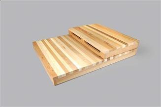 Modular Multi-Color Wood Risers