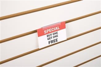 SuperGrip® Flush Sign Holder for Slatwall