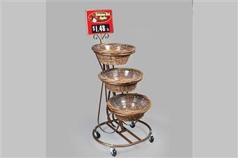 Regency Three-Basket Mobile Merchandiser
