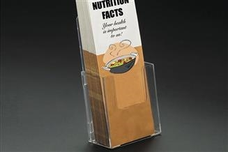 siffron has literature holders for virtually any event, promotion, or other messaging needs.  We carry literature holders for may standard sizes, including trifold, leaflet, postcard, and booklet brochures.  We also carry an exceptional line of display an