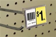For Display Hooks – siffron's label holders for display hooks include Fast-Flip Data Strip Label Holder for flip style hooks, Label Holders for Metal Scan Plate, Quad-Wire Label holders, Snap-Lock Label Holders, and Hook Hikers.
