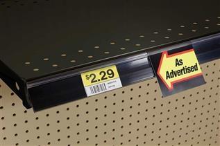 Data Strip® SuperGrip® Label Holder for Shelf Channel