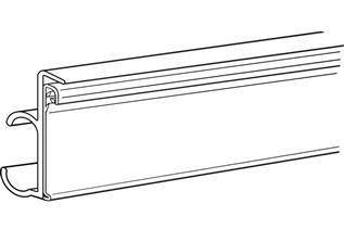 Data Strip® SuperGrip® Label Holder for Wire Shelf