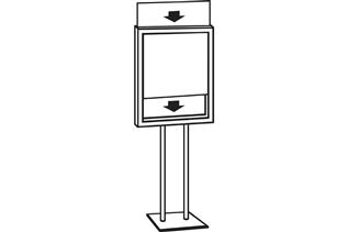 Premier™ Posterframe Floor Stand