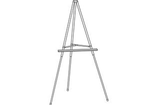 Premier™ Display Easel with Shelf