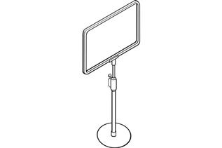 Telescopic Plastic Sign Frame