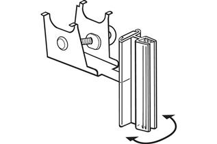 Under-Shelf Spring-Mount SuperGrip® Sign Holder