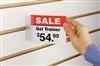 Slatwall SuperGrip® Sign Holder