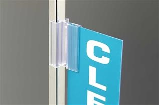 SuperGrip® Square Edge Sign Holder with Hinge