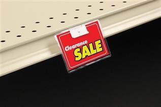 FO-102 Fold-N-Hold® Shelf Channel Flush Sign Holder